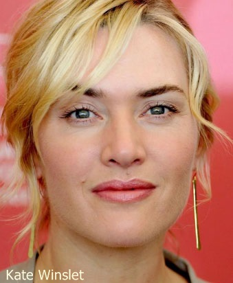 Kate Winslet poco maquillada
